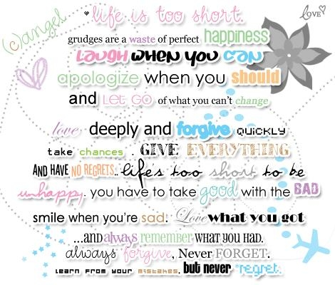 A Minute of Happiness - Myspace Quote Graphics · Hot Life Myspace Quotes