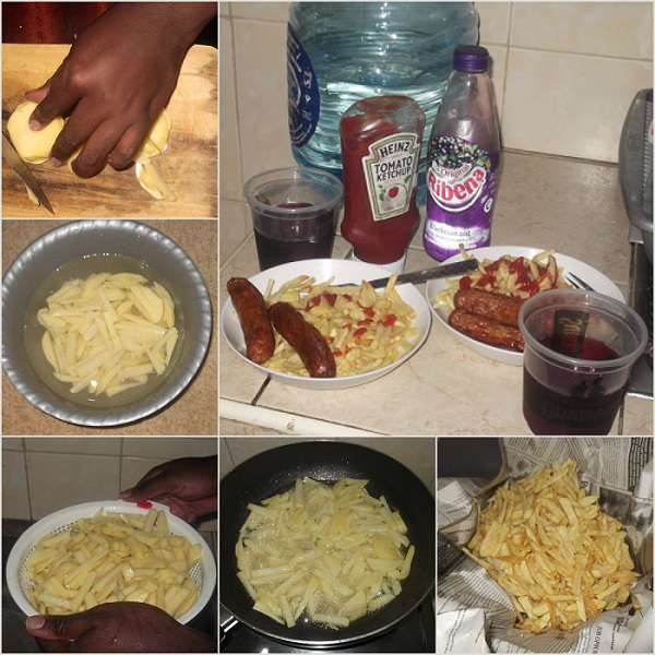 Cooking Fries, Ribena, Kenya